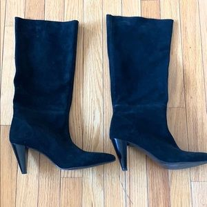 Zara Trafaluc Suede Slouchy Knee High Boots